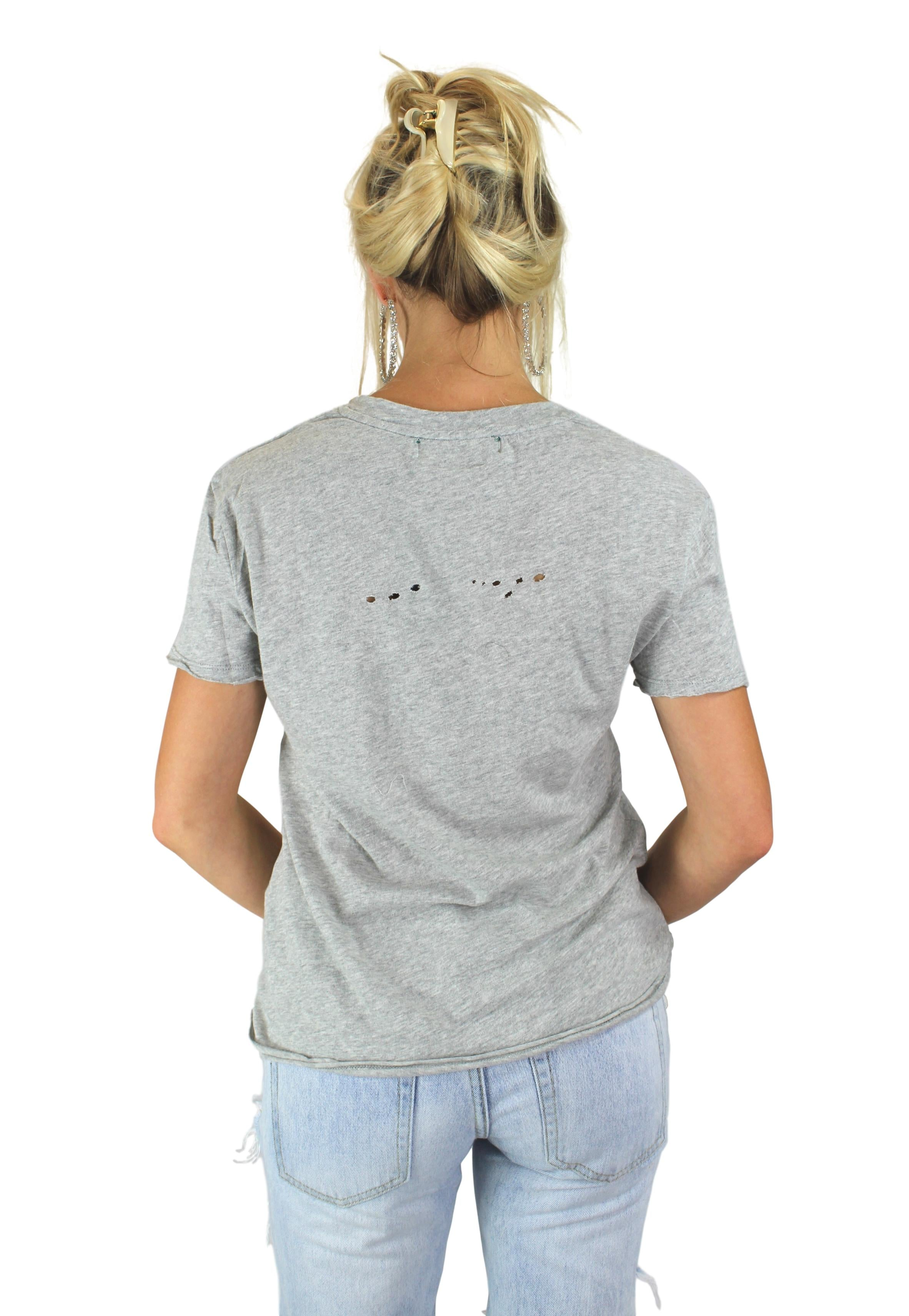 HOLE SOME TEE IN GREY