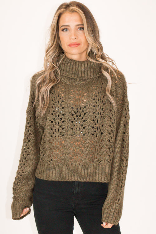 HUNTER GREEN TURTLENECK SWEATER