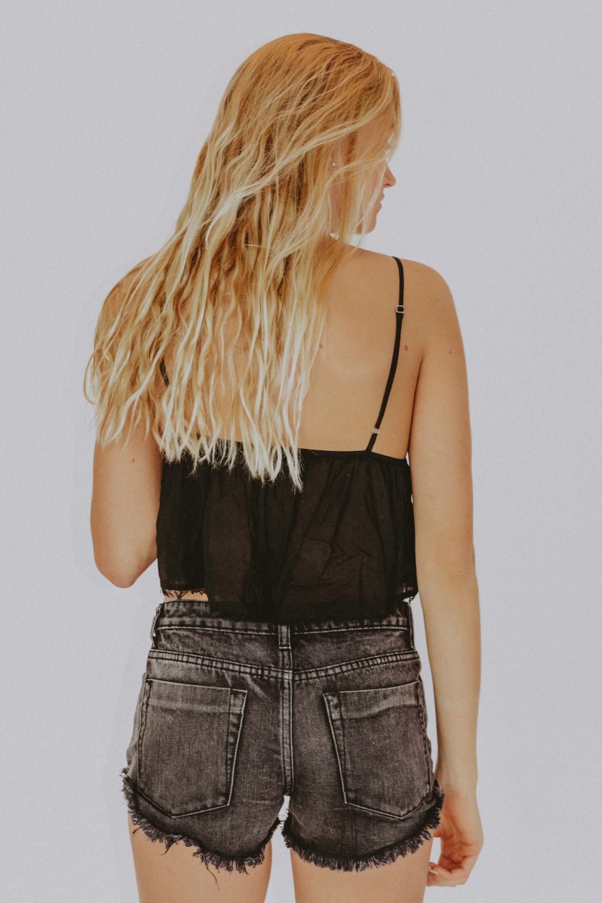 FRAYED EDGE CROP CAMI / FINAL CLEARANCE