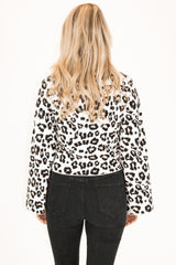 BELL SLEEVE LEOPARD SWEATER
