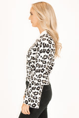 Leopard Bell Sleeve Sweater