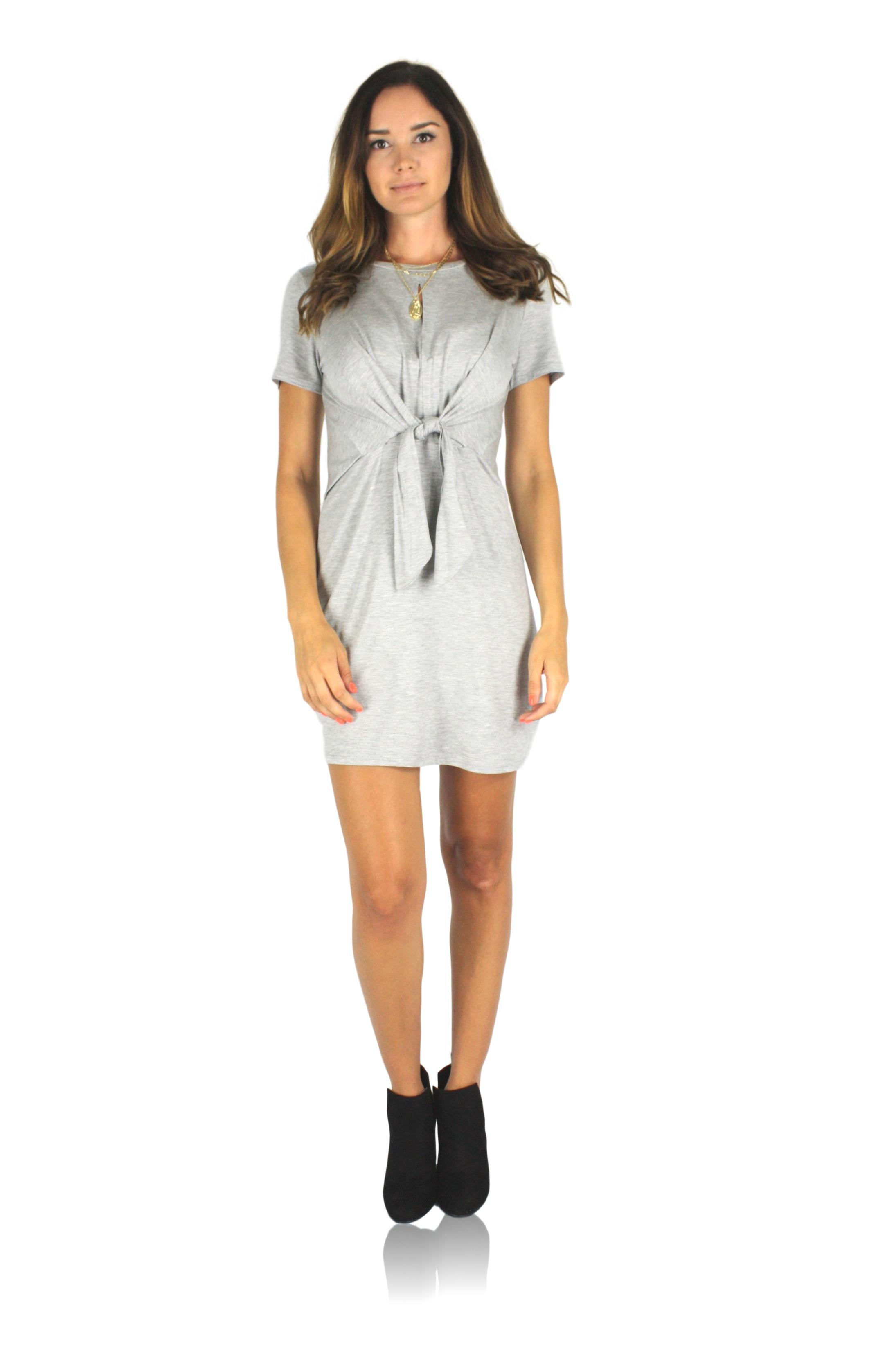 TIE DOWN SHIRT DRESS / FINAL CLEARANCE