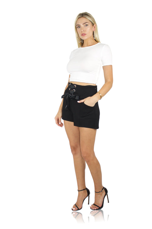 BEAD IT CROP TOP IN WHITE