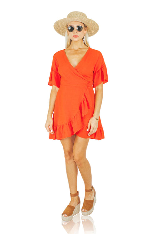 TAMALE WRAP DRESS