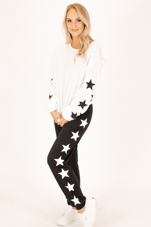 OUR SOFTEST STAR SWEATPANTS IN BLACK
