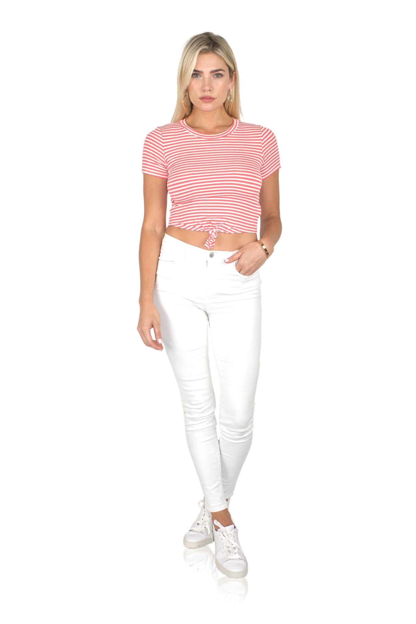TWISTER CROP IN CORAL