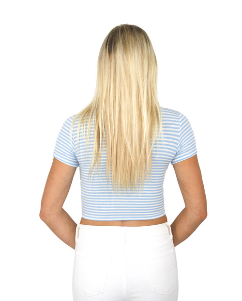 TWISTER CROP IN BLUE