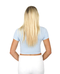 TWISTER CROP IN BLUE / FINAL CLEARANCE