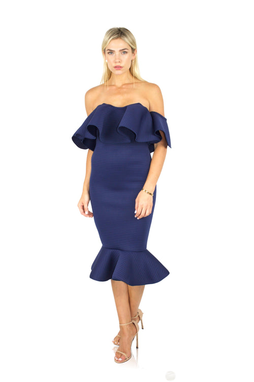 VOILA DRESS IN NAVY