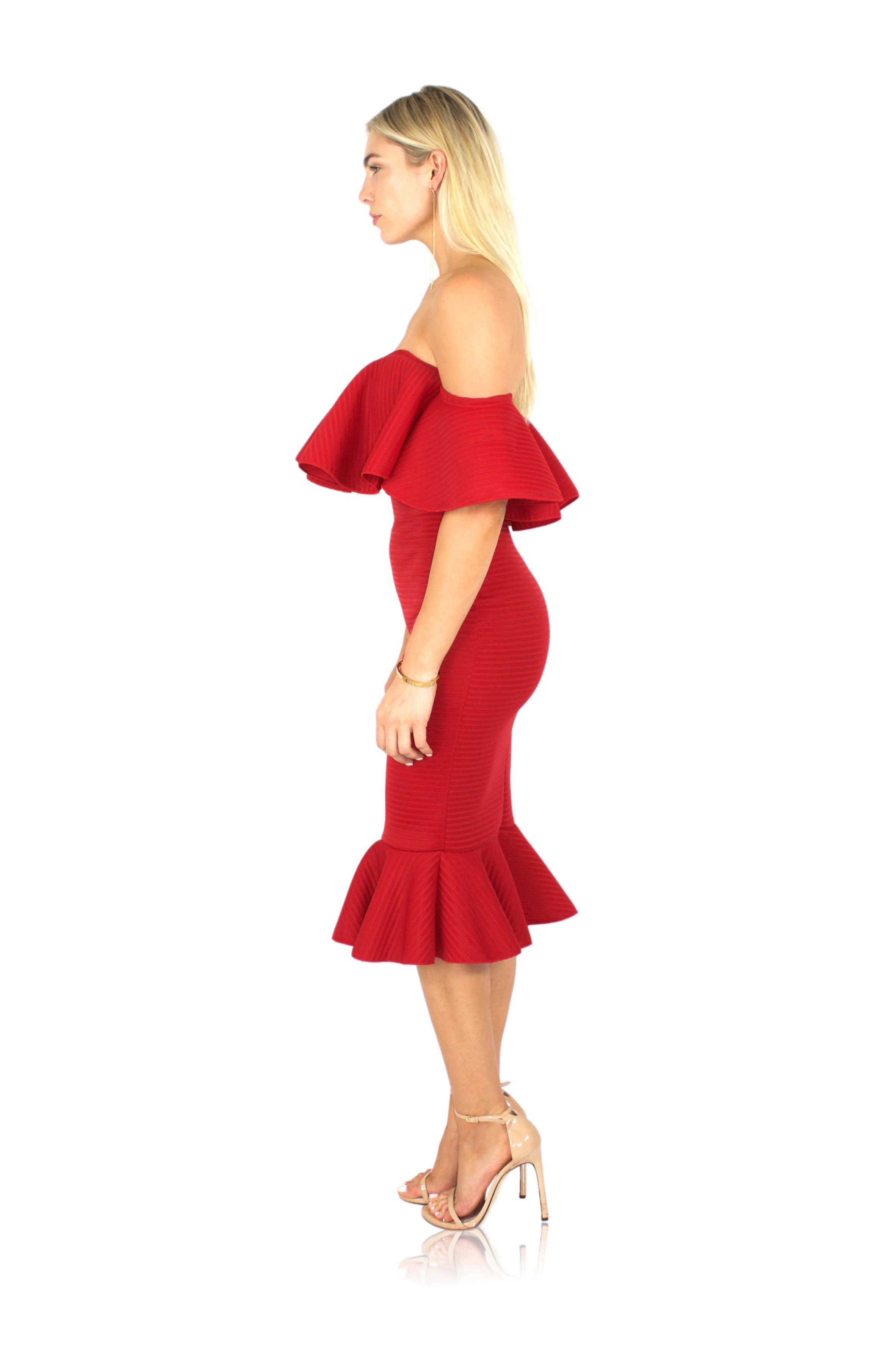 VOILA DRESS IN RED