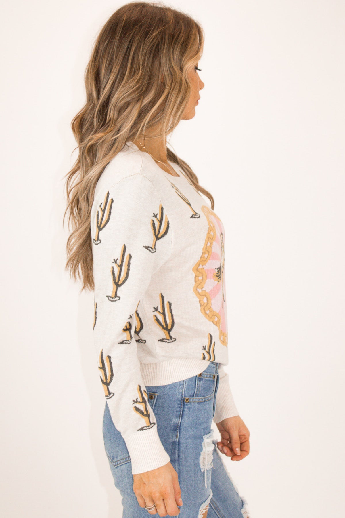 WESTERN GRAPHIC SWEATER