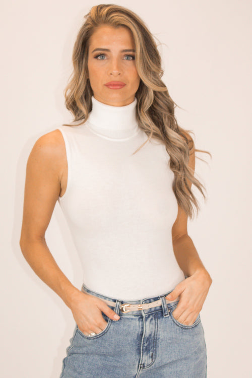 IVORY TURTLENECK BODYSUIT