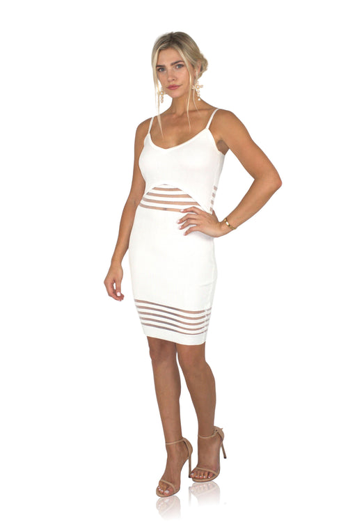 WHITE HAUTE DRESS