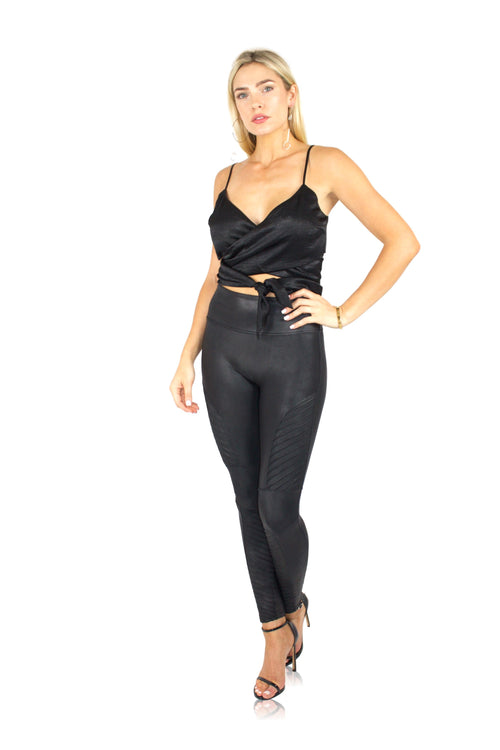 WRAP ME UP CROP IN BLACK