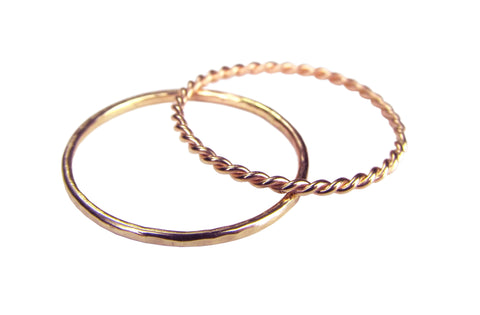 14k Rose Gold Stacking Rings