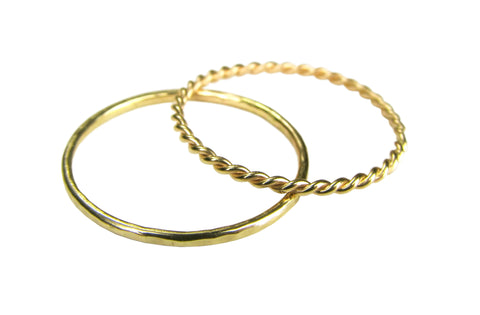 14k Yellow Gold Stacking Rings