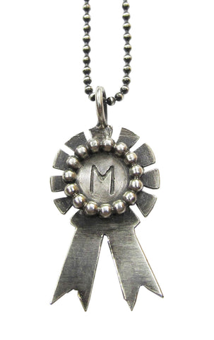 Monogrammed Award Ribbon Necklace - cog