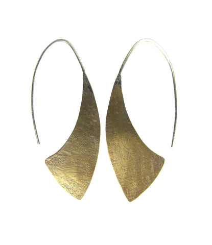 Brass Hatchet Earrings