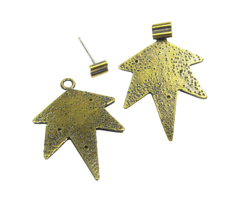 Comet Earring Jackets - double bar studs