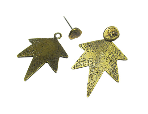 Comet Earring Jackets - space rock studs