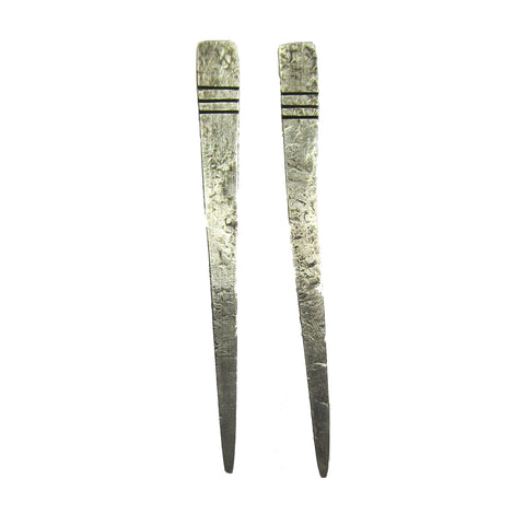 Nazca Bird Earrings - Oxidized Sterling Silver