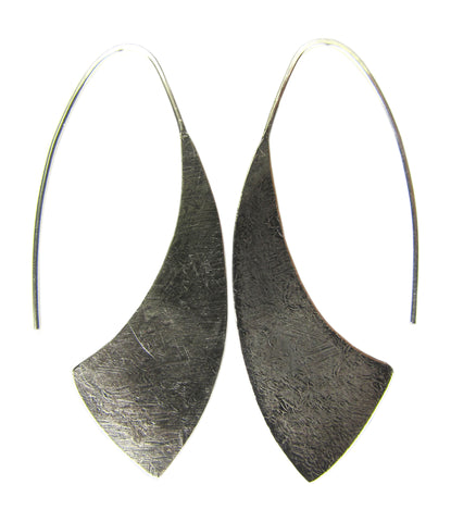 Oxidized Sterling Silver Hatchet Earrings