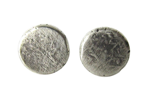Oxidized Sterling Silver Pebble Stud Earrings