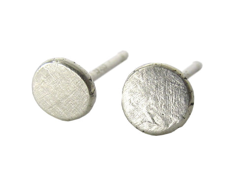 Sterling Silver Minimal Line Stud Earrings