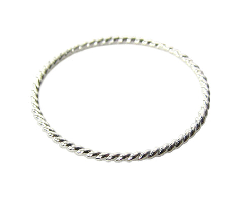 Sterling Silver Twist Stacking Ring