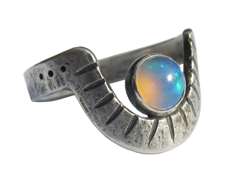 Chrysocolla Snake Ring