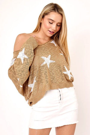 Caramel Star Sweater