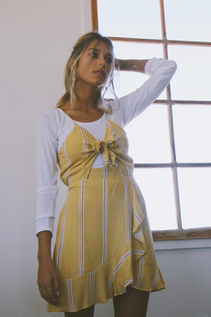 Sunburst Yellow Striped Dress