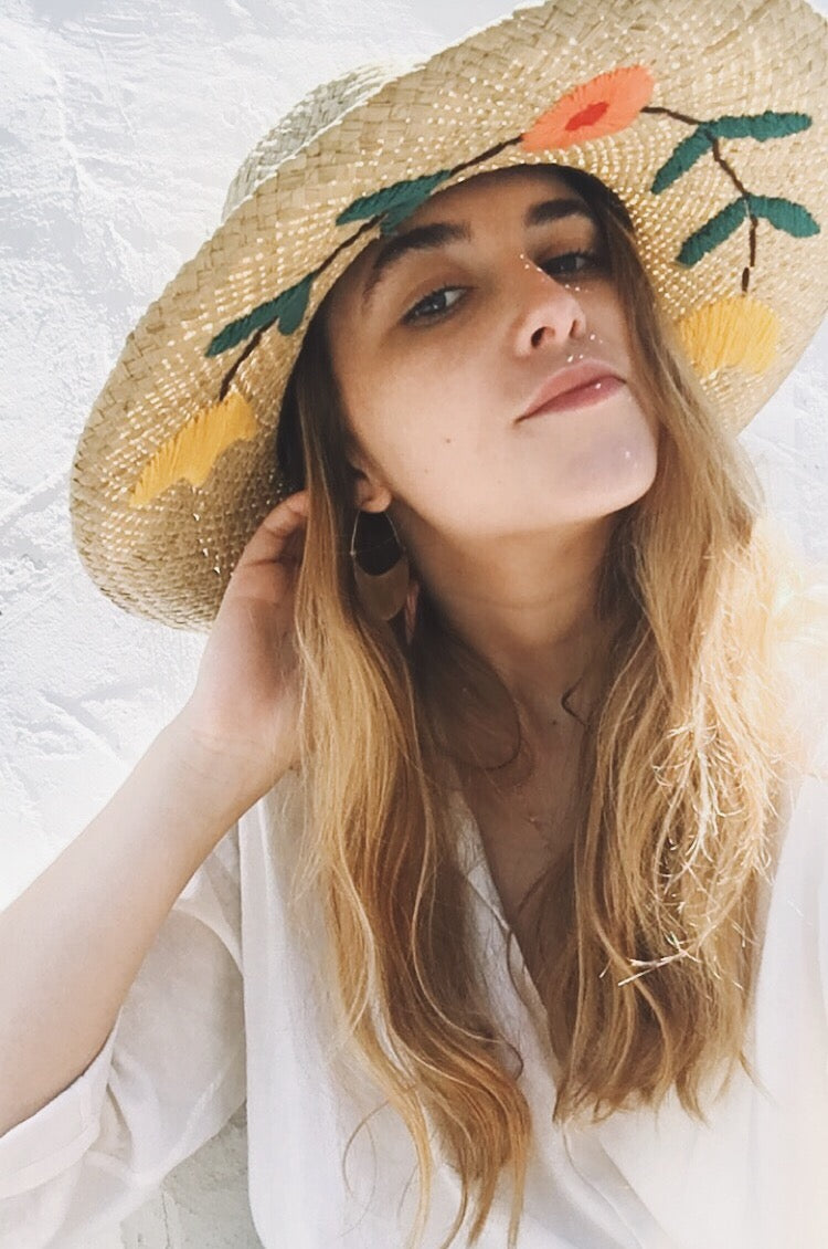 Jenna II Embroidered Fedora by Brixton