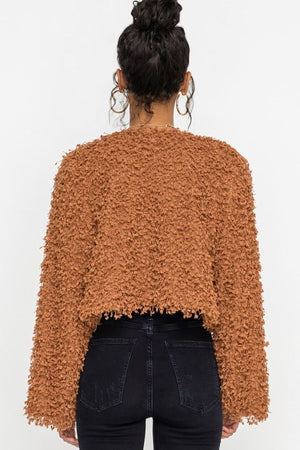 Burnt Orange Roadtrip Shag Coat