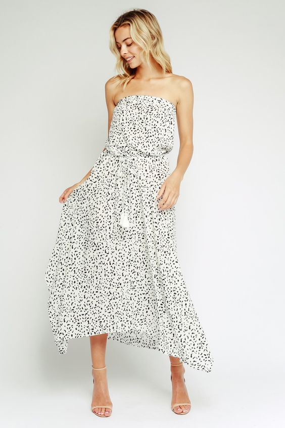 Spot On Dalmatian Printed Maxi Dress