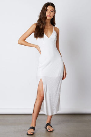 Shoreline White Midi Dress