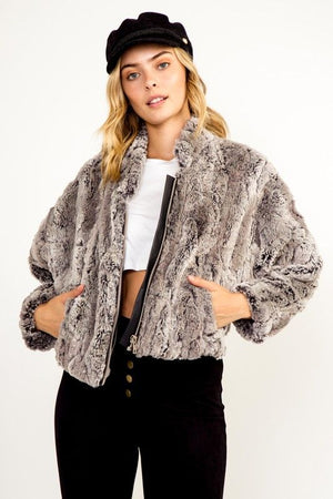 Late Night Faux Fur Jacket