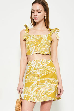 Tulum Mustard Crop Top