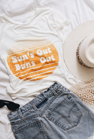 Suns Out Buns Out Tee by Sage The Label