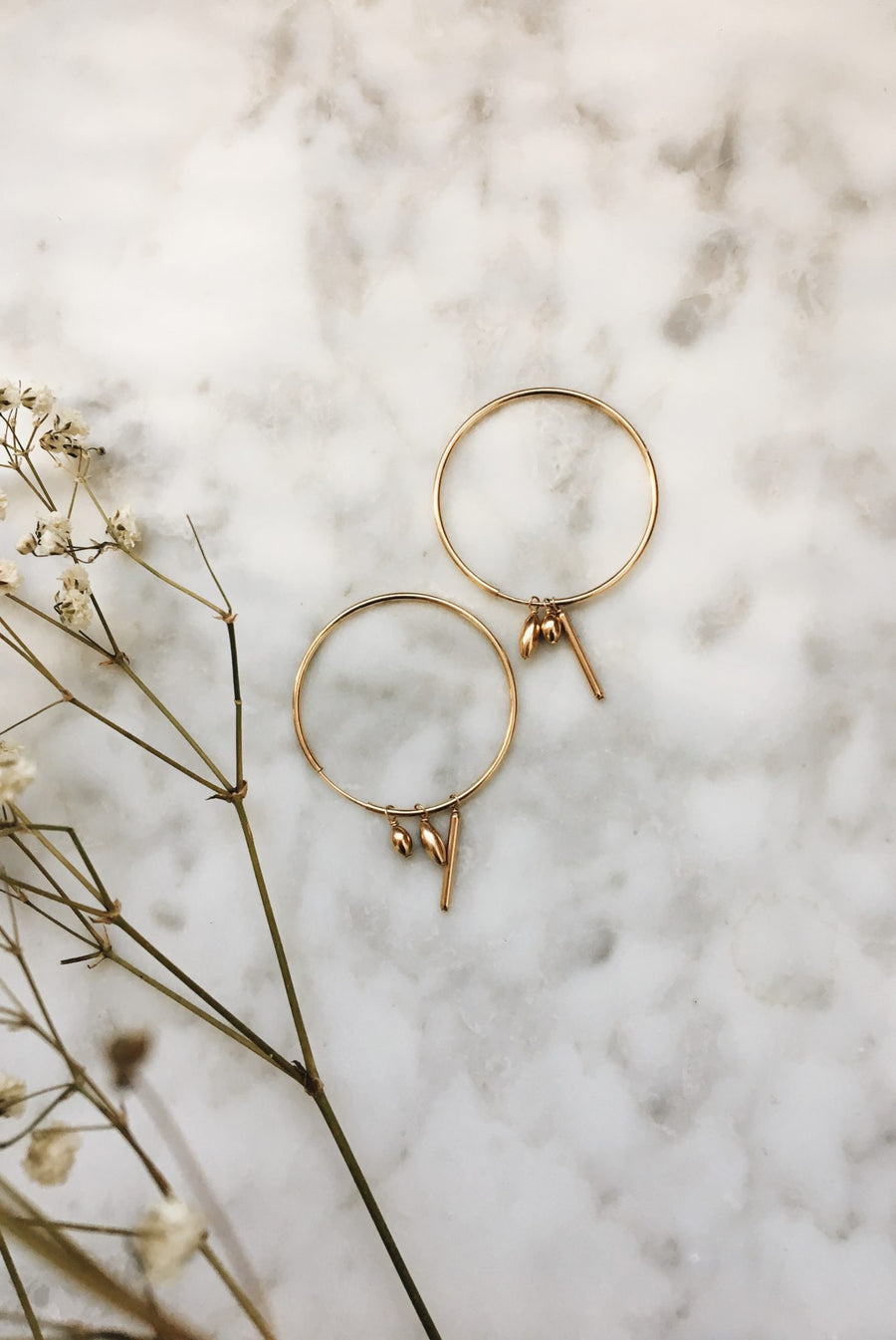 Gold Medley Hoops by Marida Jewelry