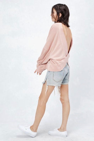 Kiki Open Back Pullover