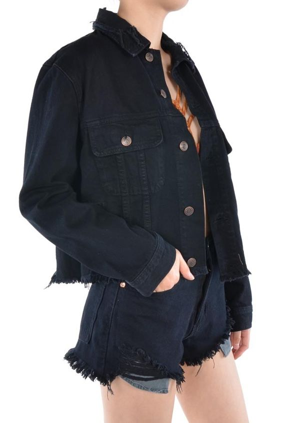 Bite the Dust Black Denim Jacket