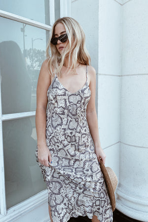 Slither Into It Midi Dress