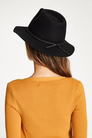 Black Wesley Fedora by Brixton