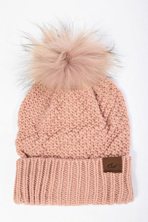 Cozy Up Knit Beanie with Removable Pom Pom