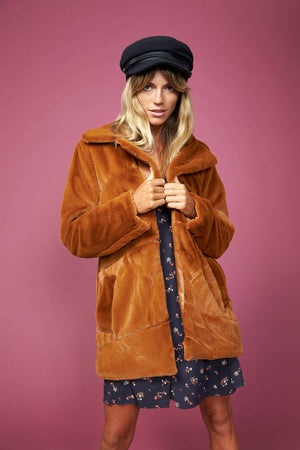 Pumpkin Spice Fur Coat by MinkPink
