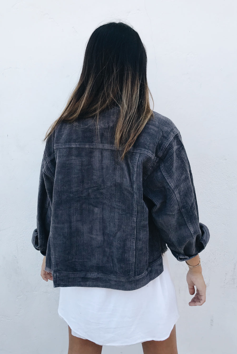 Charcoal Lexie Corduroy Jacket