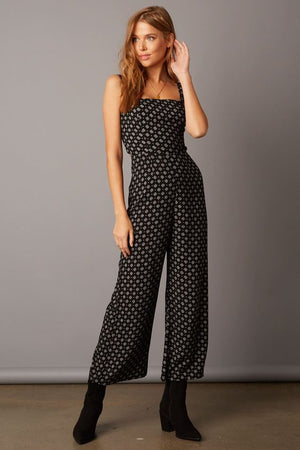 Black Elaine Printed Jumpsuit