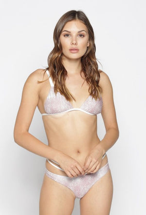 Blush Lyra Reversible Bikini Top by Lira Clothing