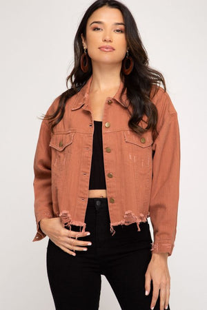 Delia Rust Denim Jacket